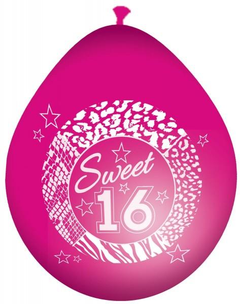 8 Blingbling Sweet 16 Ballons 30cm