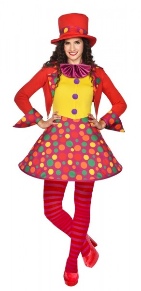 Kolorowy kostium klauna premium dla kobiet