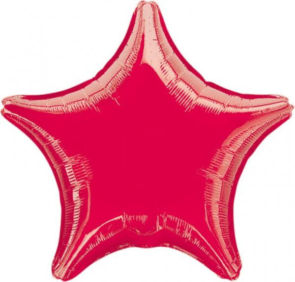 Globo estrella brillante rojo