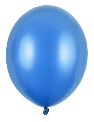100 Partystar metallic Ballons royalblau 12cm