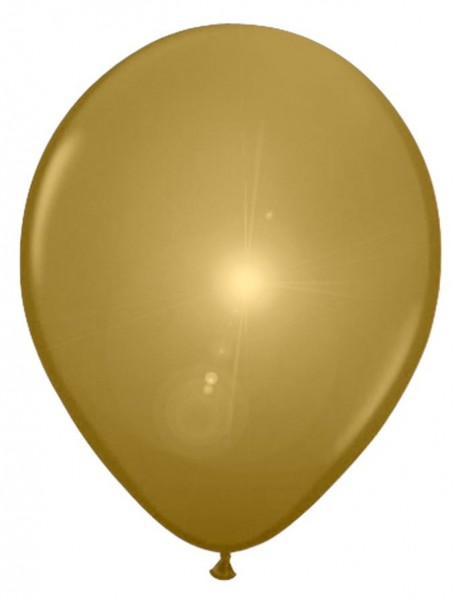 5 LED balloons in gold 28cm