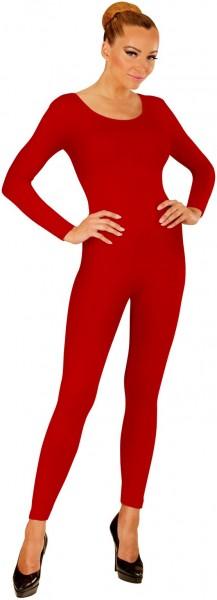 Body de manga larga para mujer rojo