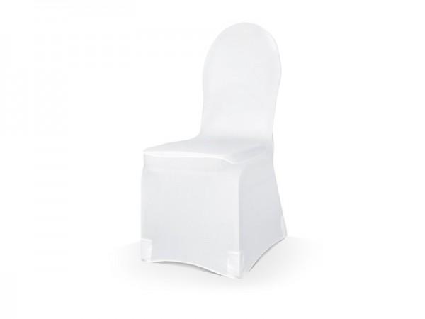Elastische Stuhlhusse für jeden Stuhl weiß 200g