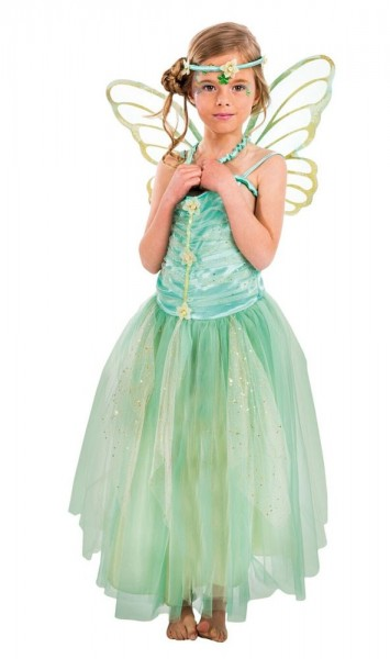 Charming wood elf Lilly child costume