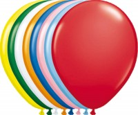10 Bunte Ballons Basic Umfang 30cm