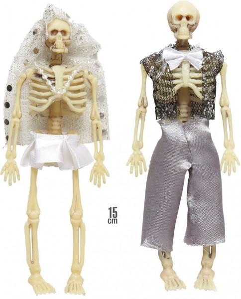 Skelett Horror Hochzeitspaar Hänge Deko 15cm