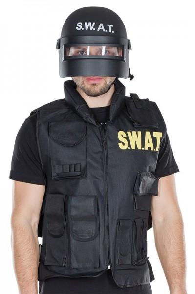Schwarzer SWAT unisex Helm