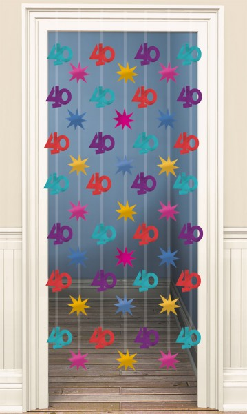 40th Celebration Door Curtain 200cm