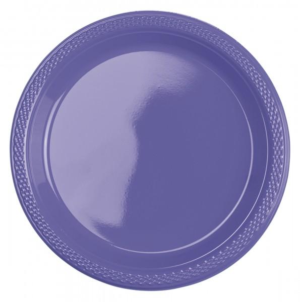 10 Kunststoff Teller Mila lila 18cm