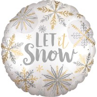 Ballon en aluminium Let It Snow 43cm