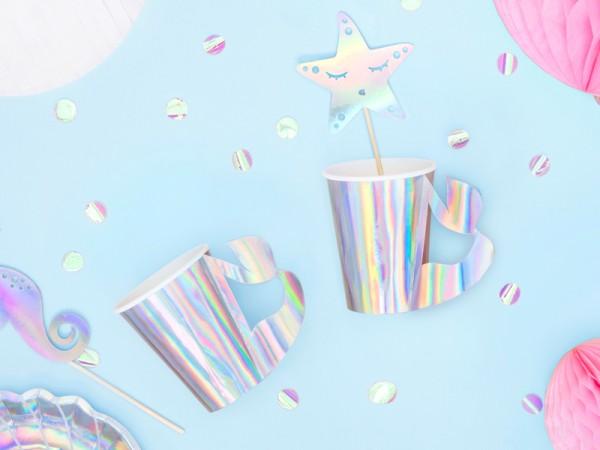6 Mermaid Princess paper cups 220ml