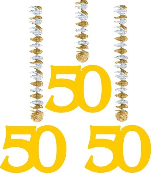 3 perchas en espiral boda dorada 50