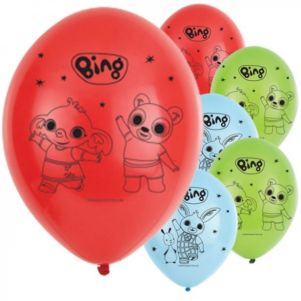 6 Bing Latexballons bunt 28cm