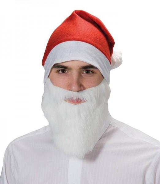 Kurzer Weihnachtsmann Nikolausbart