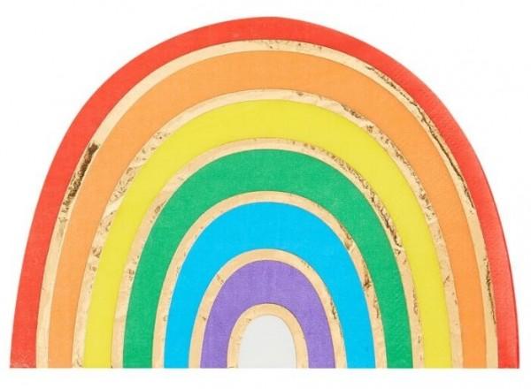 16 serviettes arc-en-ciel 11,5 x 16,5 cm