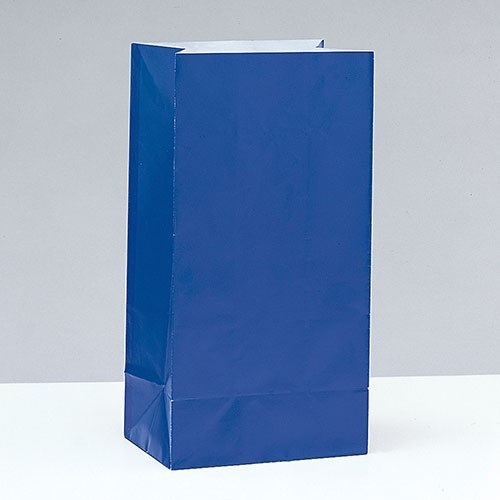 12 paper gift bags Valentina royal blue