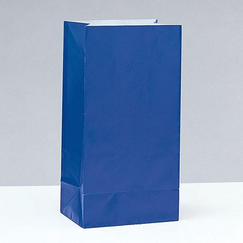 12 sacchetti regalo in carta Valentina Royal Blue