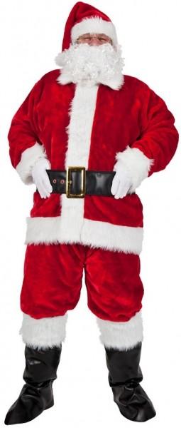 Disfraz de peluche de Papá Noel 8 piezas