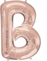 Ballon aluminium lettre B or rose 86cm