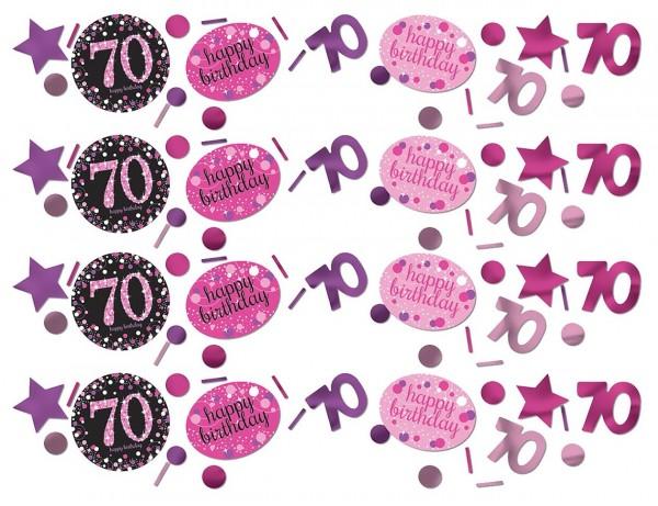 Pink 70th Birthday sprinkle decoration 34g
