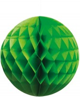 Grüner Papier Wabenball 25cm