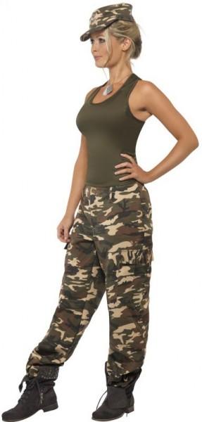Camuflage Kampfsoldatin Damenkostüm