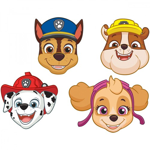 8 masques d'action Paw Patrol