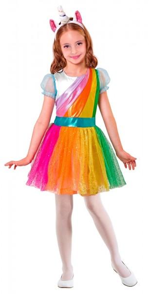 Einhorn Regenbogen Glamour Kinderkostüm