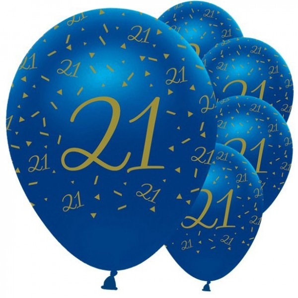 6 Luxurious 21st Birthday balloons 30cm