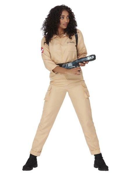 Ghostbusters Overall Damenkostüm mit Waffe