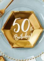 6 Glossy 50th Birthday Teller 20x17cm