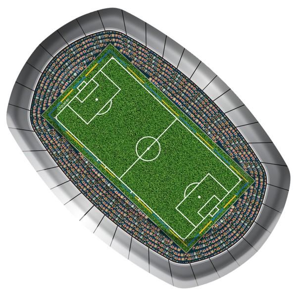 8 Grillteller Fußball Stadion