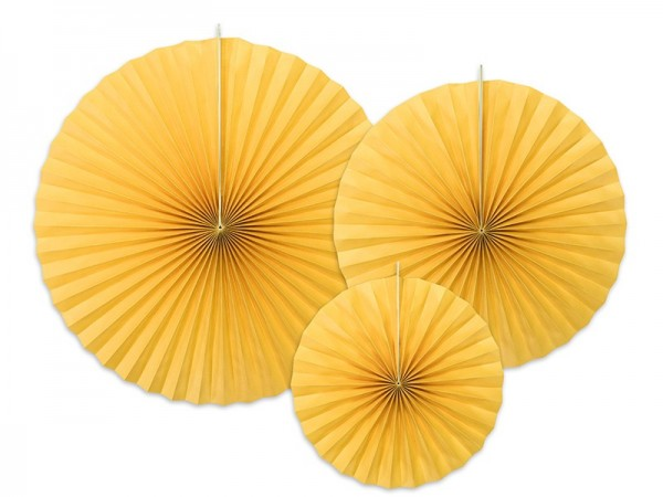 3 rosetas de papel Elenor amarillo