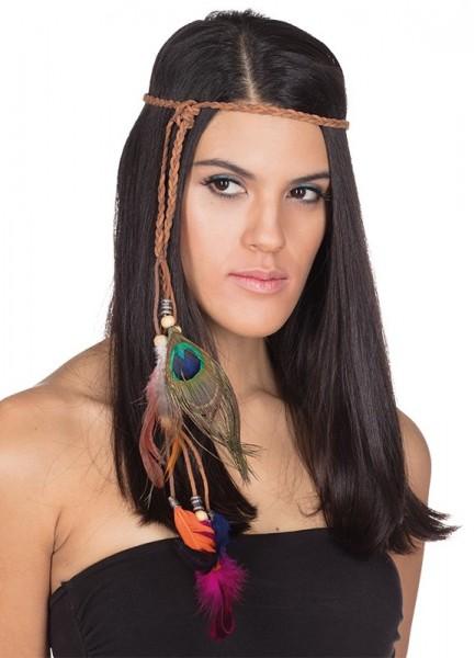 Geflochtenes Indianer Kopfband Mit Federn