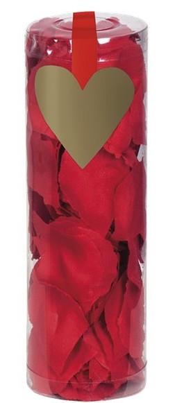 288 pétalos de rosa rojos esparcidos