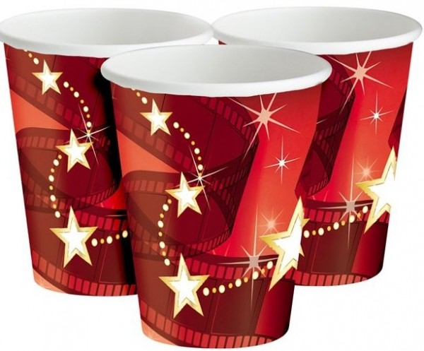 8 Hollywood Stars paper cups 256ml