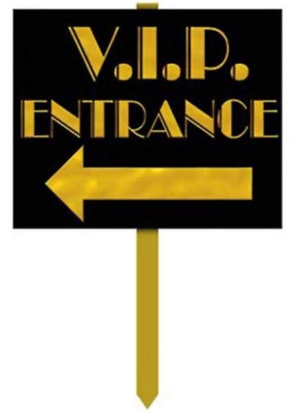 VIP entrance sign 38cm