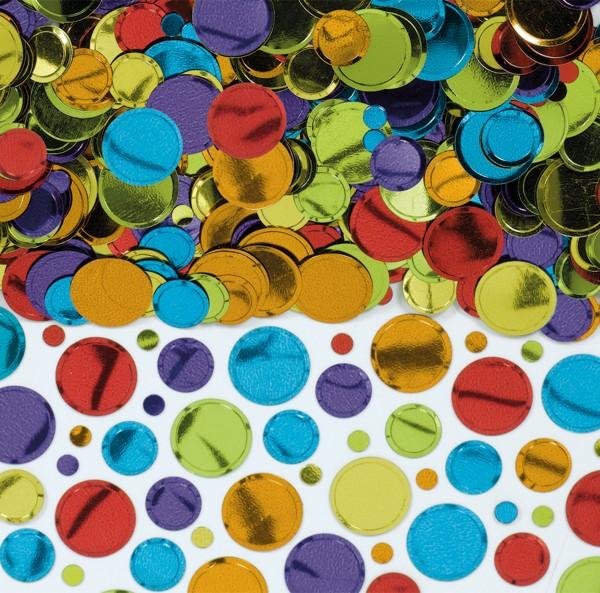 Tranches de confettis en aluminium coloré