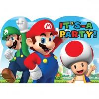 8 Super Mario Einladungskarten