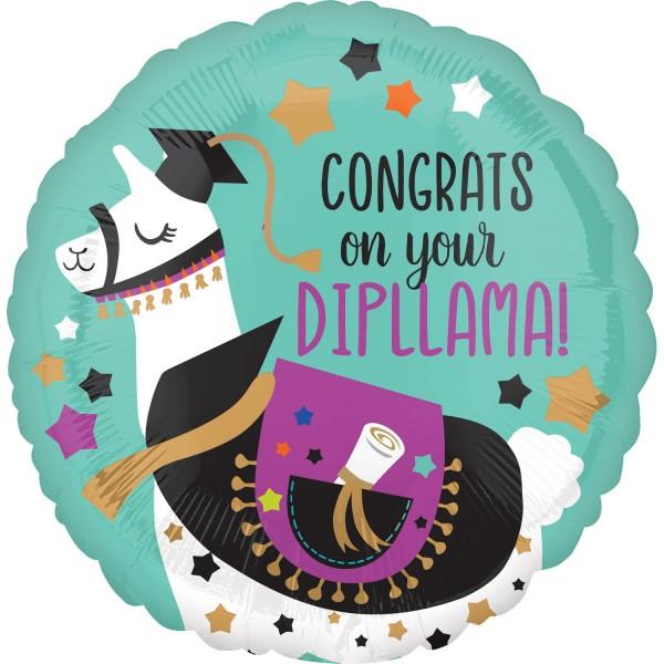 Congrats on your Dipllama Folienballon