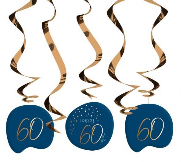 Hangende decoratie 60ste verjaardag 5 stuks Elegant blauw