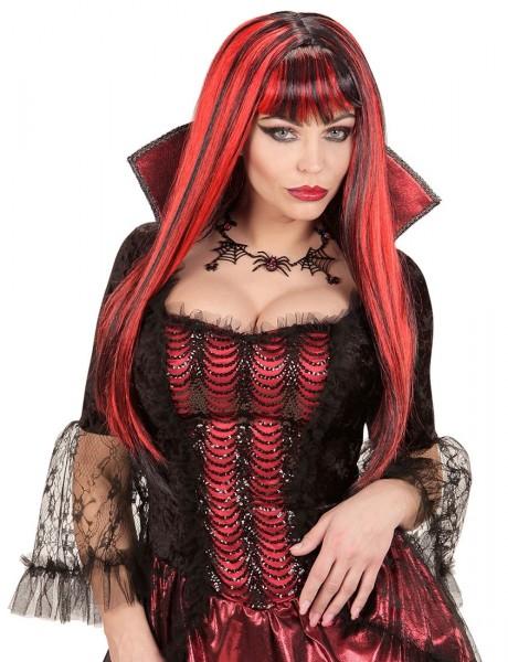 Peruka z błyszczącymi włosami Vampirella