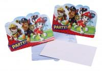 8 Paw Patrol Crew Einladungskarten