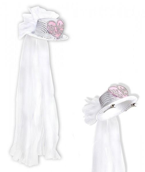Süßer Minihut Mit Brautschleier