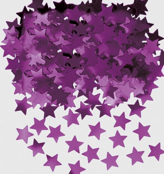Sparkling star decoration Stella Lilac Metallic