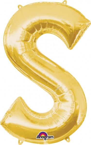 Letter foil balloon S gold 88cm