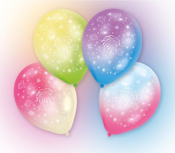 4 ballons feu d'artifice LED 27,5 cm