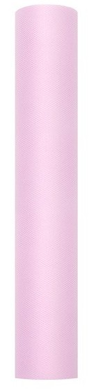 Tissu tulle Luna rose pâle 9m x 30cm