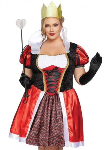 Königin der Herzen Plus Size Kostüm Deluxe