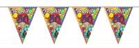 Abraham Party Wimpelkette 10m